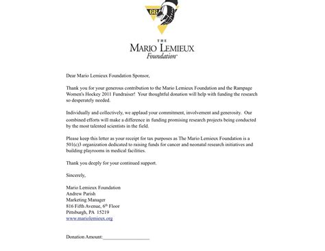 Thank You Letter For Donation Tax Deductible Zzzzzz Romeoville Rage S Hockey Club Powered By Oasys Sports