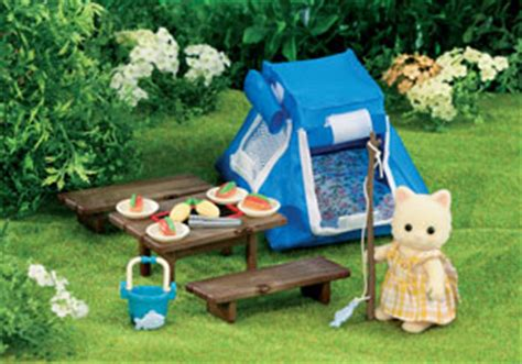 sylvanian families  bus stop toy shop esmes camping set