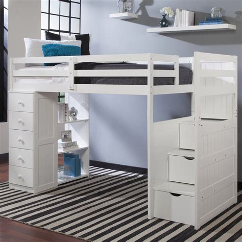 bunk beds with built in desk and drawers twin loft bed with storage bunk bedsstep 2 loft beds twin