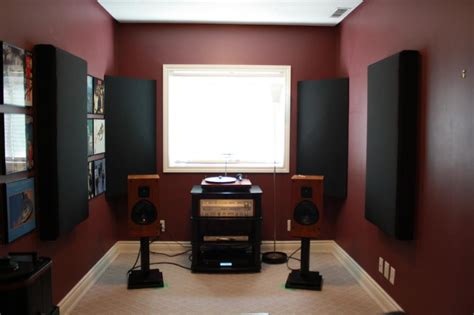 Sound System For Small Room by Listening Room Installed Acoustic Panels Audiokarma Org