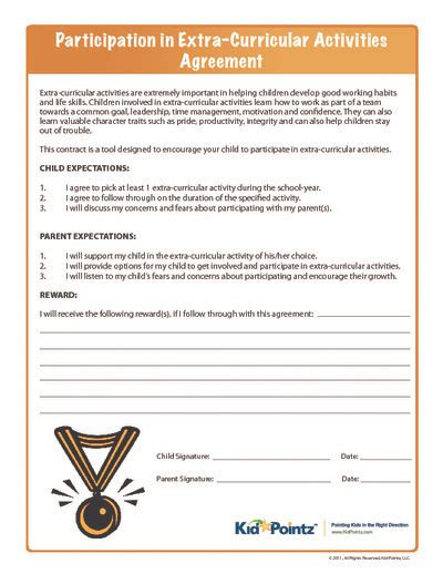 behavior contract kids on pinterest behavior contract
