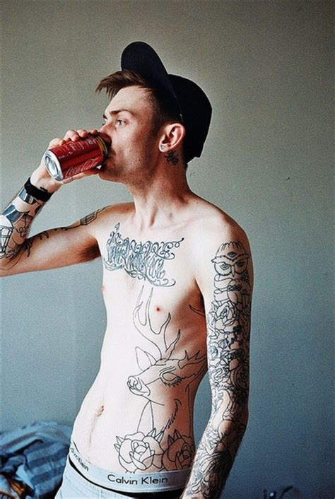 tattoo placement for skinny guys skinny see through and covered in tattoos my kind of