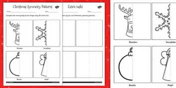 pattern worksheet twinkl christmas symmetry worksheet christmas symmetry patterns