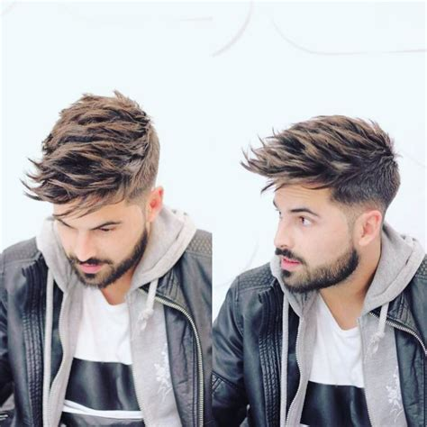 mens haircuts with highlights men s undercut with long textured spiky fringe on brown