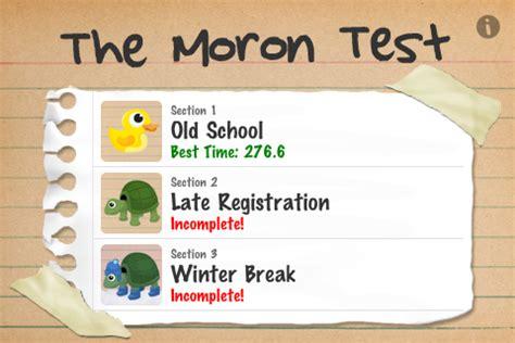 the moron test section 3 연탄 안녕 ios 바보 테스트 영어 센스 순발력을 테스트 해보자