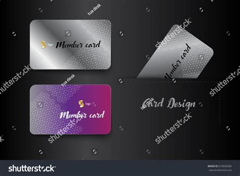 vip business card template member vip business card template design stock vector