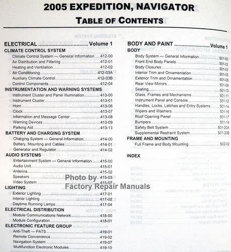 2005 ford expedition lincoln navigator factory shop service manual set factory repair manuals