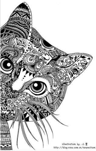 Grown Up Coloring Pages Cats | 56 best images about coloring pages for grown ups