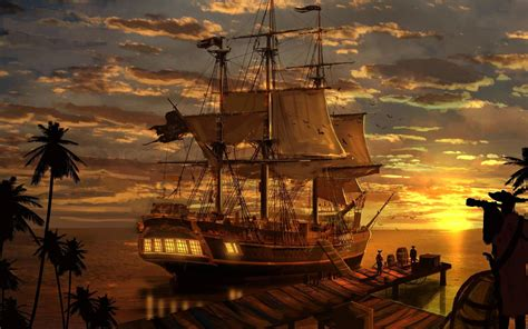 pirate boat art artwork fantasy pirate pirates ship boat wallpaper