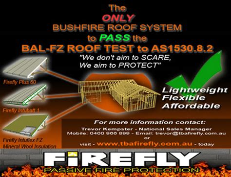 firefly fire curtain bushfire roof system from tba firefly