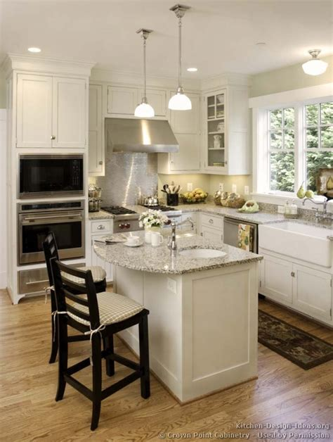 small kitchen ideas with island pictures of kitchens traditional white kitchen cabinets page 5