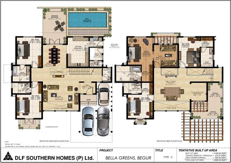 house layout images dlf bella greens off bannerghatta road bangalore floor