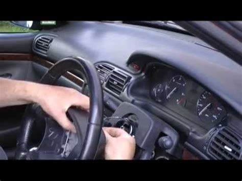steering wheel airbag removal to fix air bag light on a