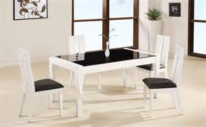 Black And White Dining Tables Furniture Minimalist Dining Room Decoration Ideas With Chairs And Tables Black And White Dining