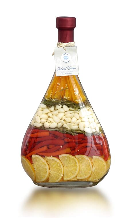 lute decorated vinegar bottle love  infusions