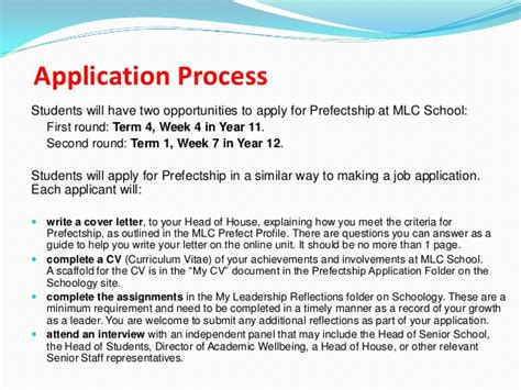 School Prefect Application Letter Exles Prefectship Presentation March 2013