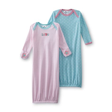 Baby Sleeper Gowns by Gerber Infant S 2 Pack Sleeper Gowns Striped