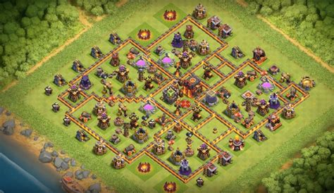 th10 trophy base town hall 10 trophy pushwar base anti golem anti 16 th7 to th11 farming trophy war base layouts for july