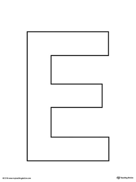 letter e template uppercase and lowercase letter e printable writing mat