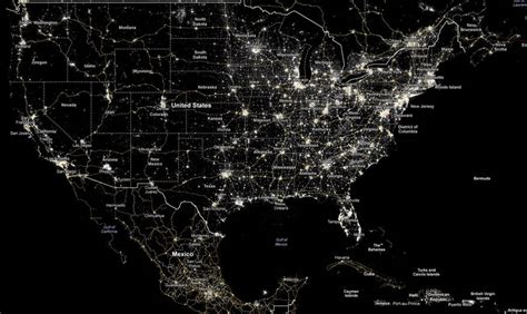 nighttime map of us wordlesstech we are losing our starry