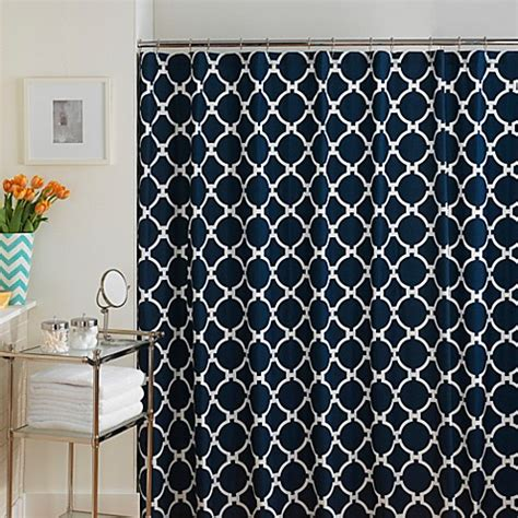 navy and white shower curtain jill rosenwald hton links shower curtain in navy white