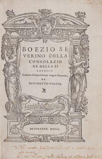 consolazione della filosofia boezio della consolazione della filosofia libri