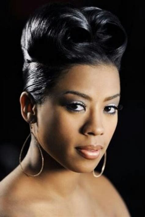 Rolls Hairstyles by Keyshia Cole With A Roll Hairstyle