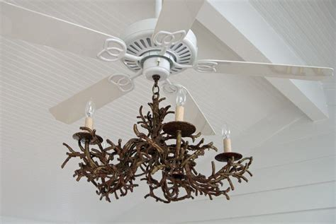 chandelier with ceiling fan attached home design ideas