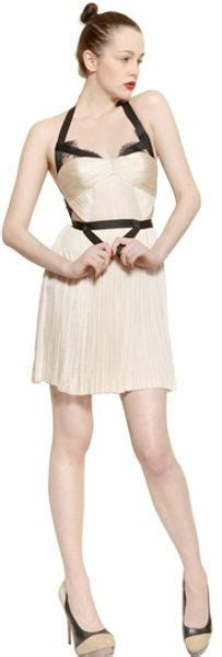lucia hohan garter belt lace silk tulle dress in