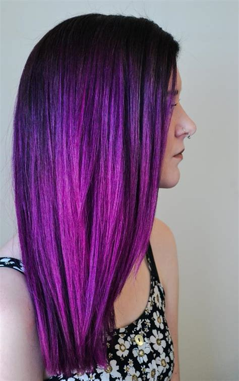 purple brown hair color top 20 purple ombre hair trends hair colors ideas
