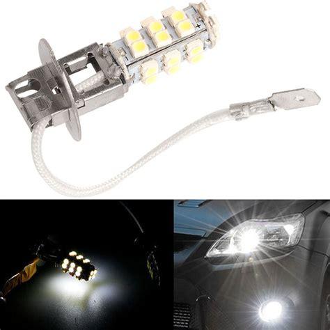 Led Fog L by 2x H3 28 Led White Fog Lights Drl Driving Light Bulbs 12v
