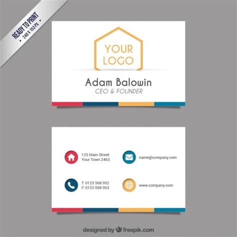 card template freepik business card template vector free