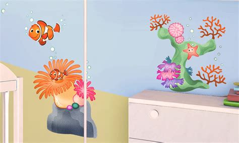 Stickers Per Camerette Bambini by Stickers Murali Bambini Cameretta Barriera Corallina