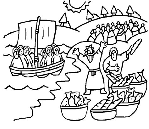 Bible Coloring Page Feeding 5000 by 2011 Baptist Spirituality Page 8