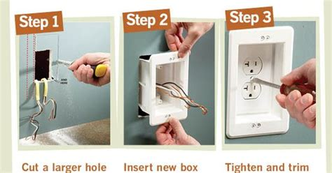 install a wall hugger receptacle electrical outlets