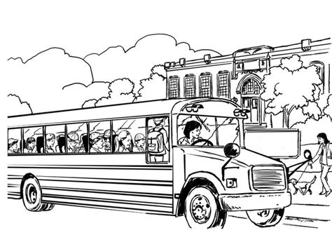 printable coloring pages school bus free printable school bus coloring pages coloring home