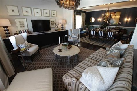 richardson living rooms striped sofa transitional living room para paints jetstream richardson design