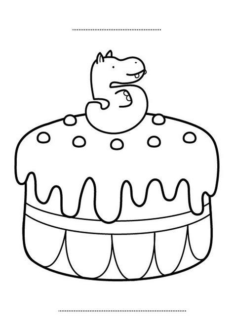 decorar tartas con lapiz pastelero tarta de cumplea 241 os 5 a 241 os dibujo para colorear e imprimir