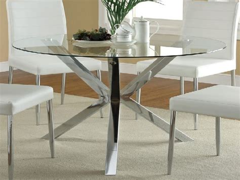 glass top dining table metal base dining room