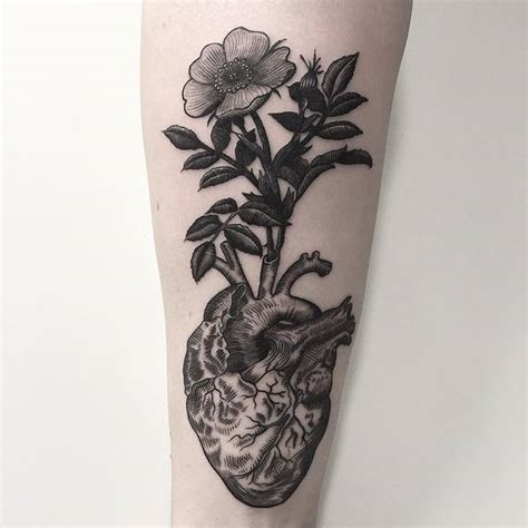 39 inspiring anatomical heart tattoos