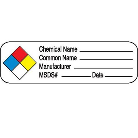 printable msds stickers chemical hazard labels in blister packs chemical name