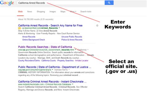 Crime Records California Search 101