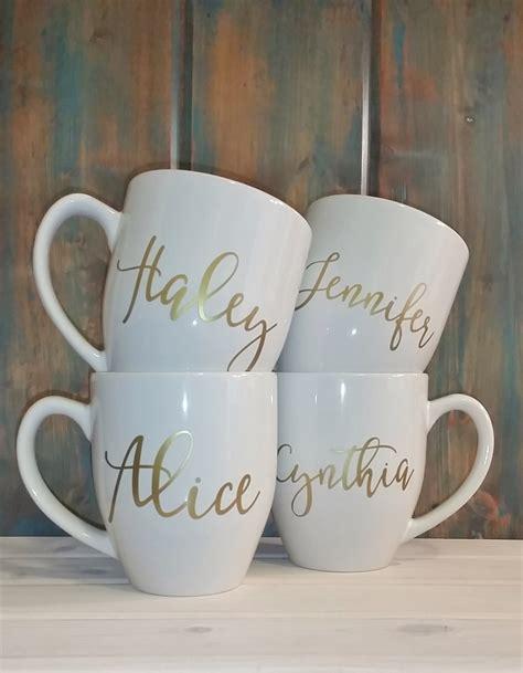 Mug Costum Nama personalized mug custom mug gold name by travelingtreedesign