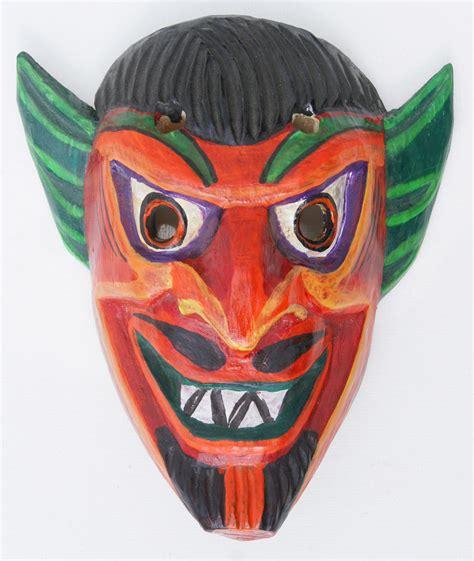 Mask Handmade - wood mask indian ceremony masks handmade in ecuador
