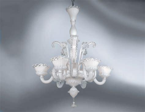 White Murano Glass Chandelier Nella Vetrina Av Mazzega Cavendramin 8010 06 Venetian Chandelier In White