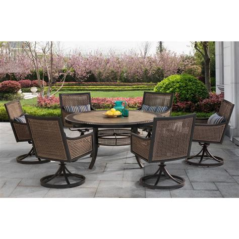 sunjoy patio furniture sunjoy bentley 7 patio dining set with beige