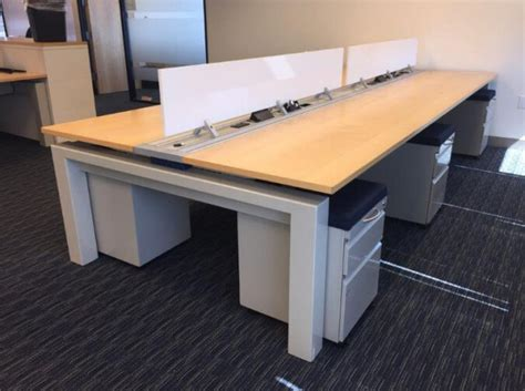 teknion benching used teknion workstations 6x4x45h low panels used cubicles