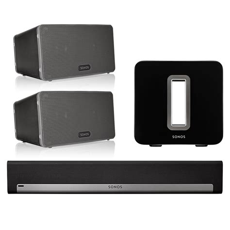 sonos 5 1 home theater system with play 3 pair playbar