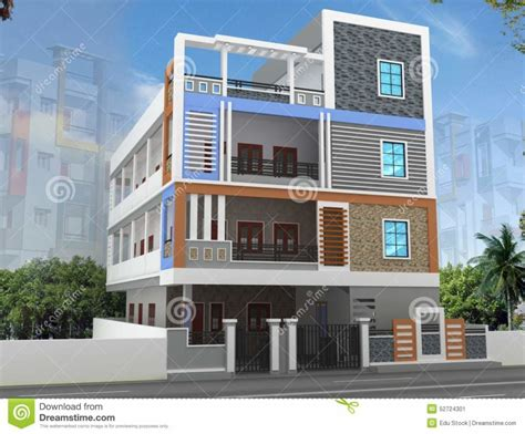 free home elevation design home design d building elevation design stock