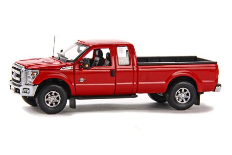 truck bed cab ford f250 pickup truck w super cab 8ft bed red dhs diecast collectables inc